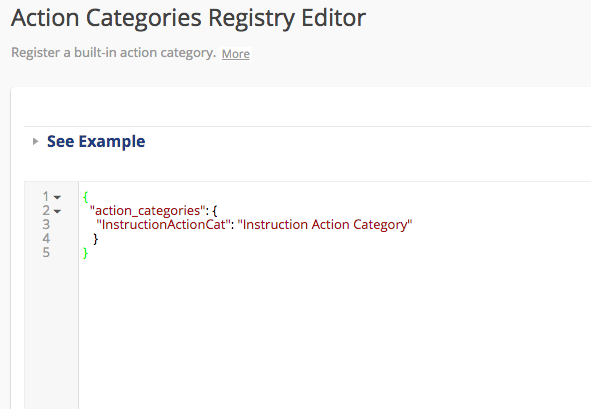 Categories Editor