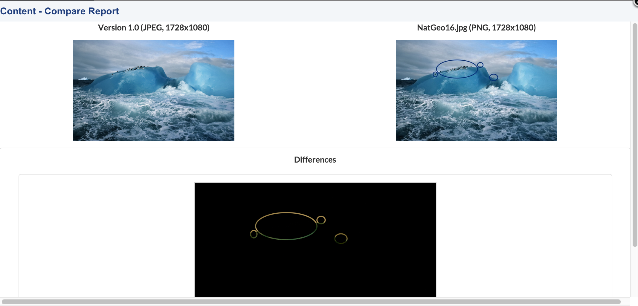Display Differences in Pictures Using Nuxeo Diff Pictures