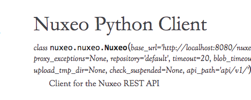 Nuxeo Python Client - A Python Client Library for Nuxeo Automation and REST API