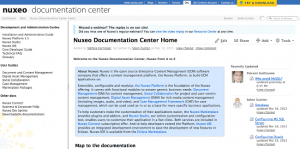 Nuxeo Documentation Center homepage