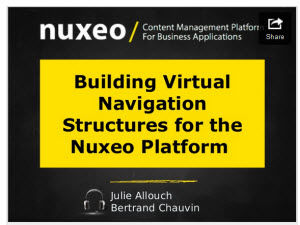 Webinar: Virtual Navigation Structures