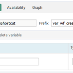Create shortcut workflow - variables