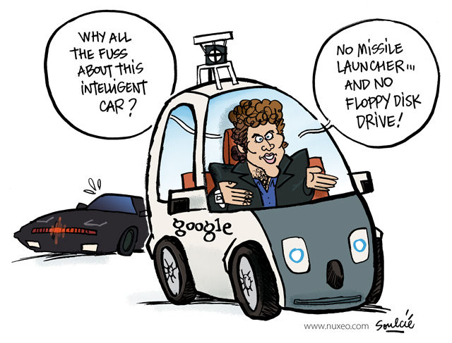 Nuxeo comic Google Knight Rider Car Hasselhoff