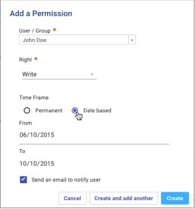 New permission management UI