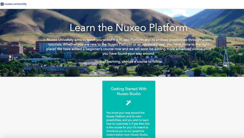 Nuxeo University Home Page