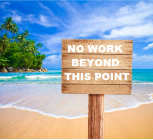 No work beyond this point