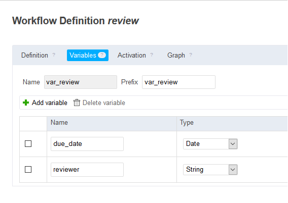 Workflow definition review