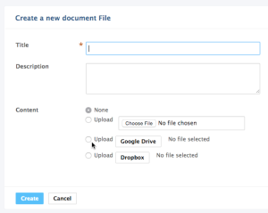Select file from Google Drive or Dropbox