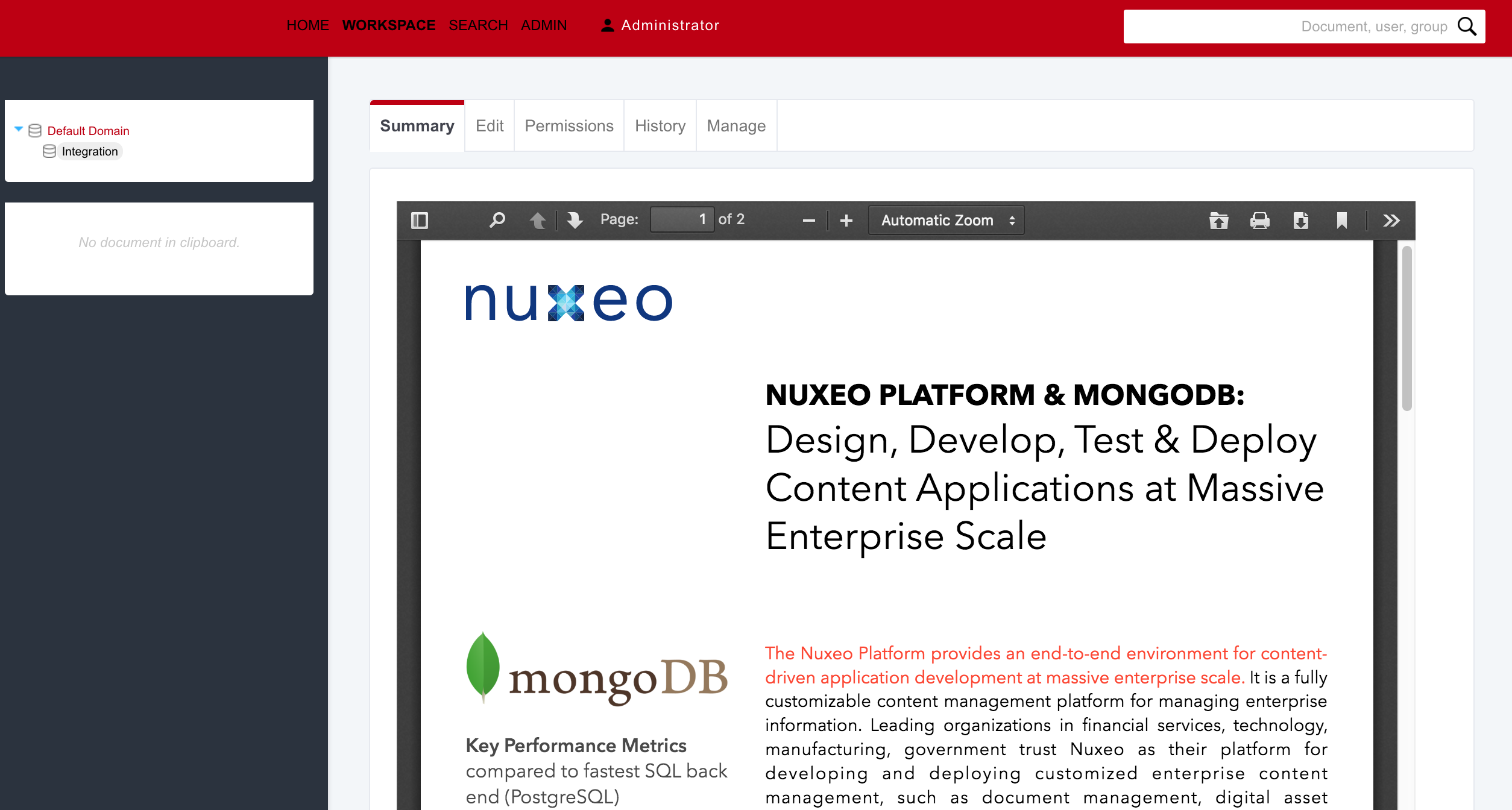How to Get an Embedded PDF Preview in Nuxeo